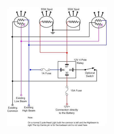 4 Headlight Relay Wiring Diagram from bzerob.com