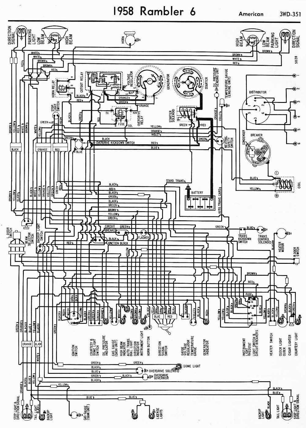 bzerob.com - technical articles library - wiring section 64 rambler wiring diagram