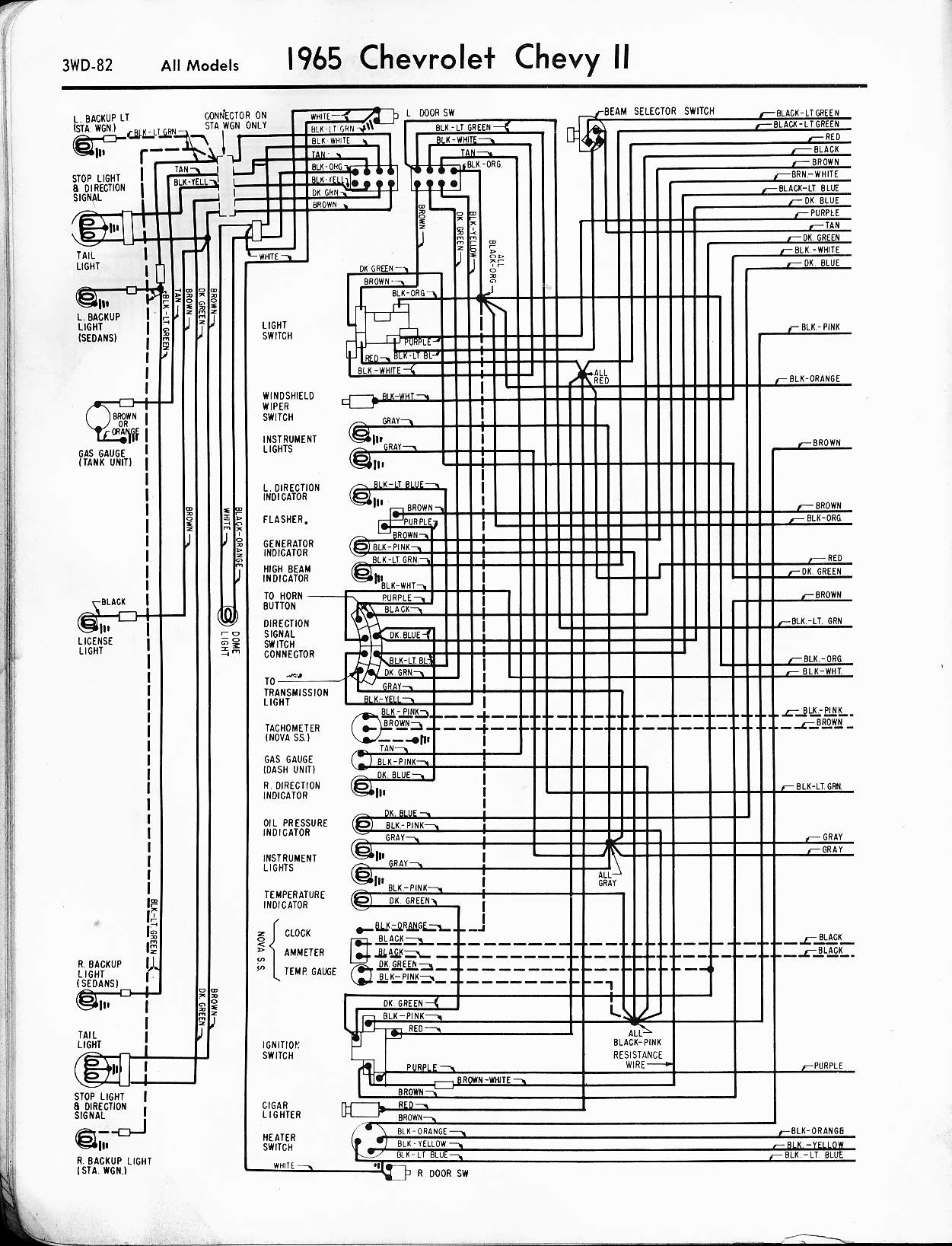1965 Chevy Wiring Harness Schematic - DIY Enthusiasts Wiring Diagrams •