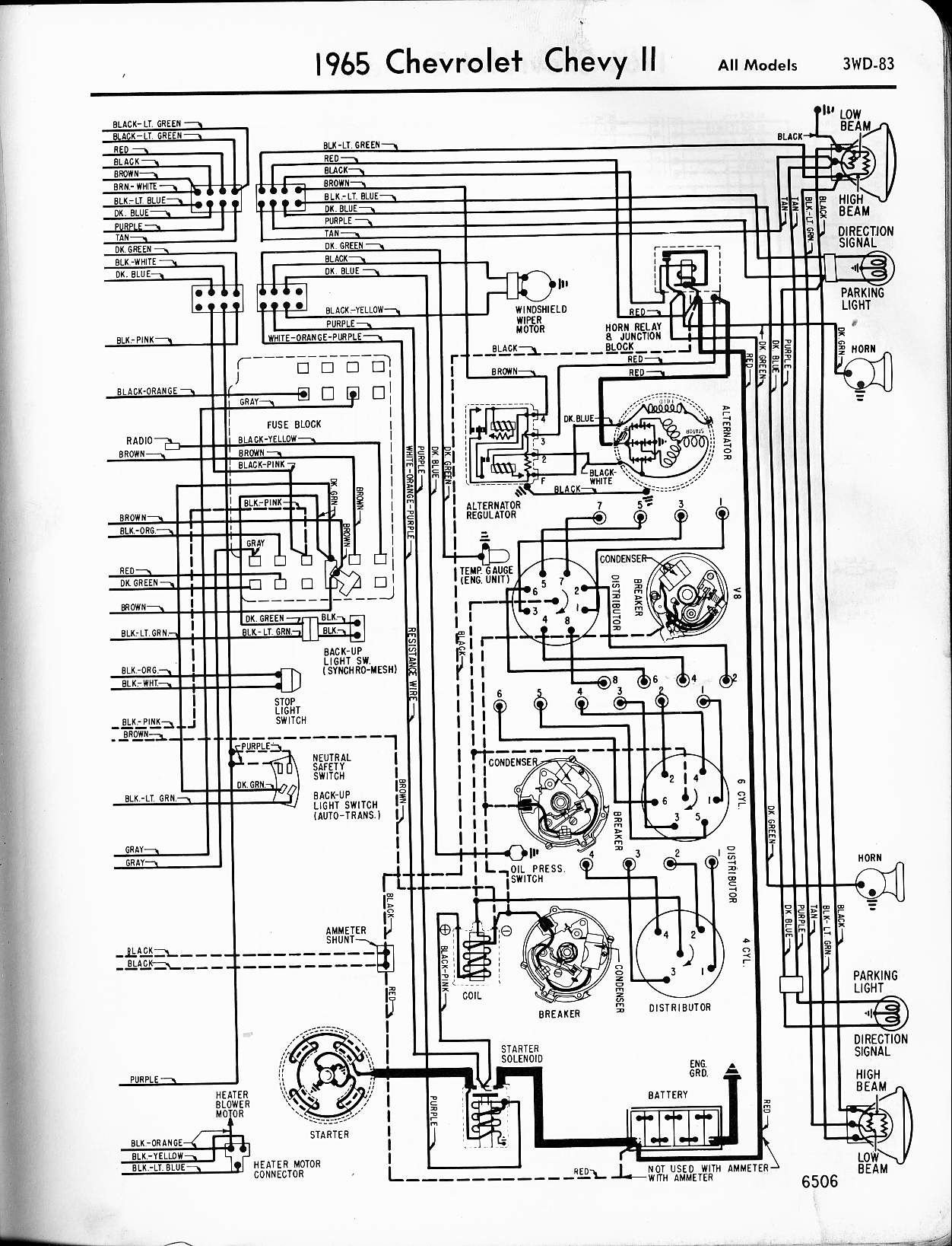 65_ChevyIIa bzerob com technical articles library wiring section ba falcon engine wiring diagram at creativeand.co