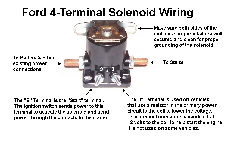 Technical Articles - Ford Starter Solenoid Wiring on 3 pole relay diagram, 3 phase motor wiring diagrams, 3 pole starter solenoid, contactors and relays diagrams, 3 pole switch wiring diagrams,