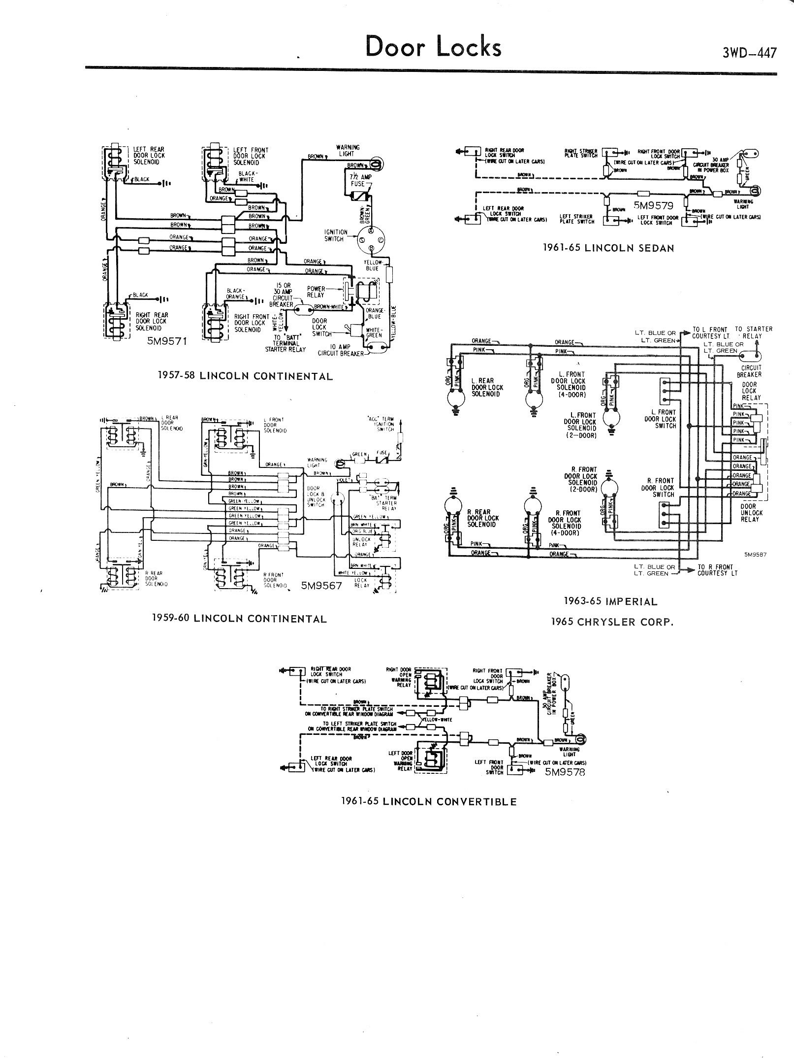Technical Articles Library Wiring Section 1957 Ford Ignition Switch 62 Falcon 57 Lincoln Accy A